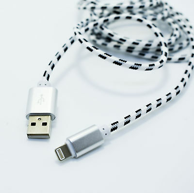 ✅ Iguard 1m Lightning Cable Nylon Charger Data Cable Apple IPHONE Mfi Silver ✅