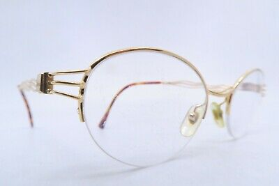 Vintage Henry Jullien eyeglasses frames gold filled wavy supra made in France