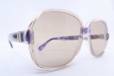 Vintage 70s Yves Saint Laurent sunglasses NOS purple Mod CATAGRANA 54-18 France