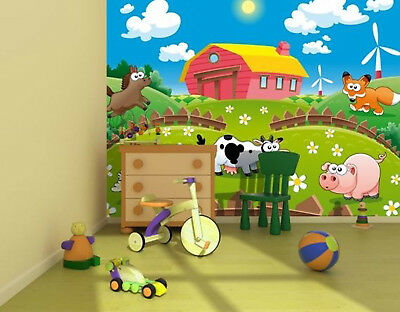 Papier peint photo jaune super voiture mural 254x183cm pour enfants beedroom