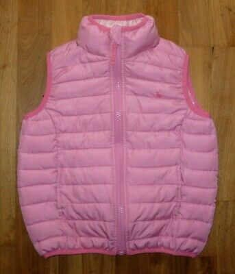 JOULES Junior Girls Pink Quilted Body Warmer Gilet Age 3