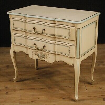 Dresser French Furniture 2 Drawers Wooden Lacquered Painting Antique Style