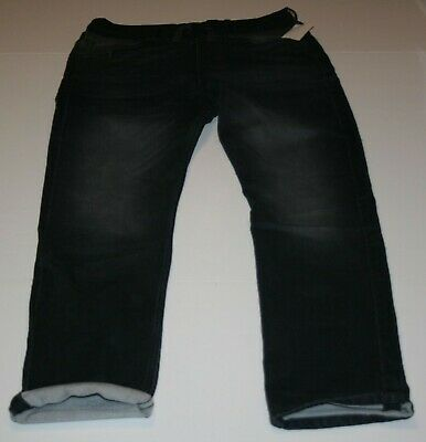 New H&M Boys Denim Black Jeans 13 14 year 164cm Soft Waist Jogger Pull On Style