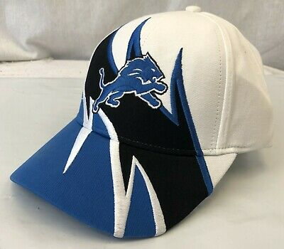 Detroit Lions Sharktooth Look Embroidered Cap Hat Osfm Free Shipping
