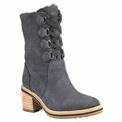Timberland Women's Sienna High Suede Waterproof Mid Boots Black TB0A24V6015