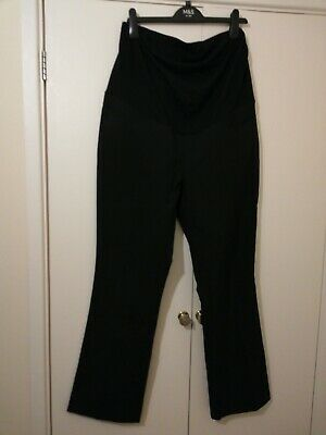 New Look Black Maternity Trousers over the bump Size 16