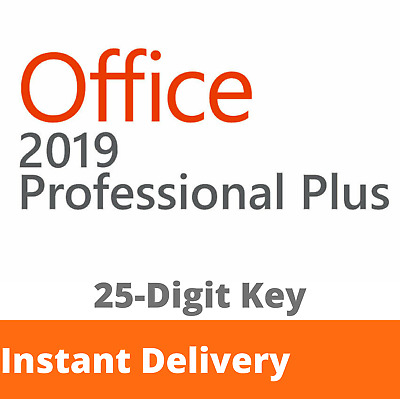 MS Office 2019 Pro Plus 25 Digit Retail Key Instant Delivery