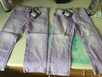 Girls two pairs of Trousers, age 18-24 months 92cm new with tags. both Lilac