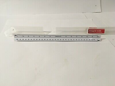 Scale Ruler Triangular 30 CM 6 Scales Metric Professional with Case