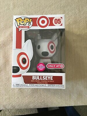 Funko Pop! Ad Icons Flocked Bullseye Red Collar Target Exclusive #05 *In Hand*