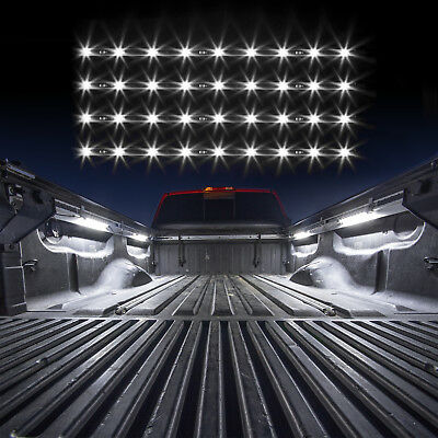 Single Color LED 4 pcs Tonneau Cover Bed Light Kit from XKGLOW Auto OFF - White