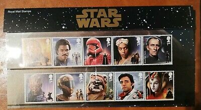 Gb, Stamps, 2019 Star Wars Apollo Space Films Set, Mint Mini-Sheet And Stamps