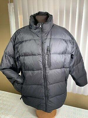 GAP Black Feathers Down Puffer Coat Zip Pockets Quilted Winter Jacket Mens US XL