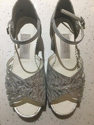Freed Of London-Silver Sequin/Hologram Low Heel Ballroom Dance Shoe-Size 13.5