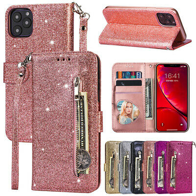 Case For iPhone 11 Pro XS Max XR X 8 7 6 Plus Luxury Glitter Leather Flip Wallet