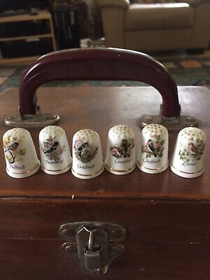 Ole England bone china thimbles collectable