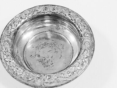 S. Kirk & Son Sterling Silver Repousse Wine Coaster Dish  $9.99