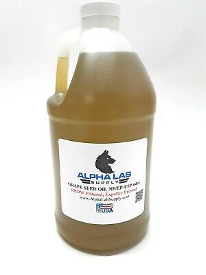 Sterile Filtered Grape Seed Oil USP 64oz - Free Shipping