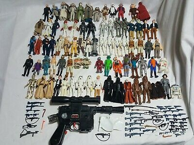 Star Wars Vintage Action Figure Lot of 80 + Accessories Blaster 1977 - 1983 Toys