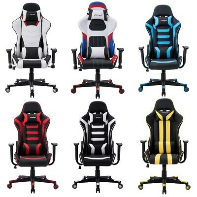 Sport Racing Gaming Office Chair Executive PU Leather Seat With Lumbar Support