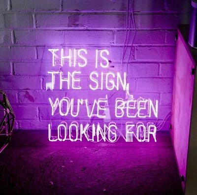 """19""""x15""""This Is The Sign You Have Been Looking For Neon Sign Light Tiki Bar Decor"""