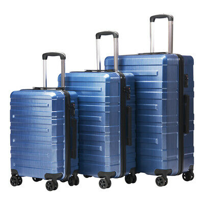 3pcs High quality Carry on 360° Trolley Suitcase Luggage Set W/ TSA Customs Lock