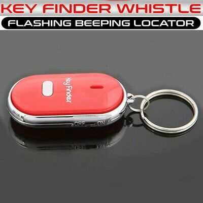 Whistle Lost Key Finder Flashing Beeping Locator Remote Chain LED Sonic Torch UK