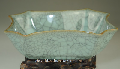 chinese old Longquan cyan porcelain natural cracked glaze brush washer /Db01B