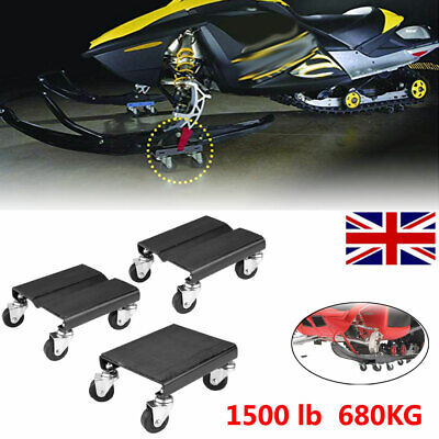 3Pcs Tire Car Wheel Dolly Skate Repair Snowmobile Moving 1500lbs/680kg Capcity