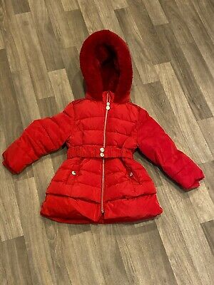 Jasper Conran  Girls Winter Coat Age 2-3 Years Red Padded *Xmas*Immaculate