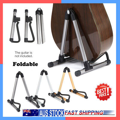 NEW Guitar Folding Stand Floor Rack Electric Acoustic Bass Gig Instrument Holder