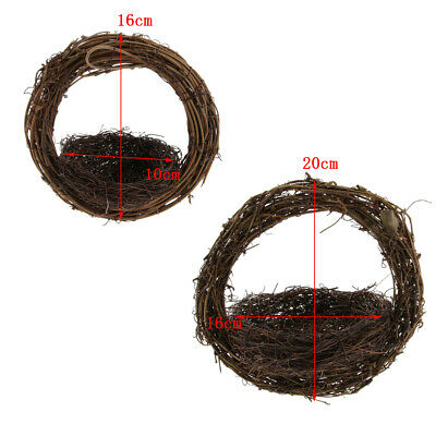 Handmade Parrot Chew Toy Cage Hanging Rattan Nest for Bird Macaw Cockatoos