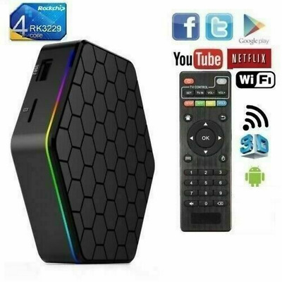 T95Z PLUS Android 9.0 TV Box CPU 8 CORE 4GB RAM 64GB ROM Q5 6k