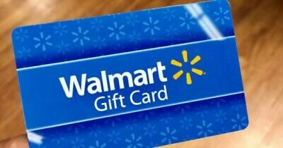 Wal Mart $100 Gift Card Physical Gift Certificate Walmart No Expiration Date