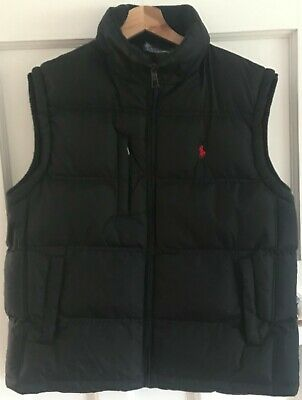 Genuine Polo By Ralph Lauren Black Padded Gillet Uk Size Medium