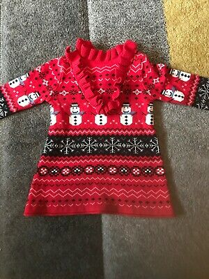 Next Baby Girls Christmas Dress Jumper 6 To 9 Months