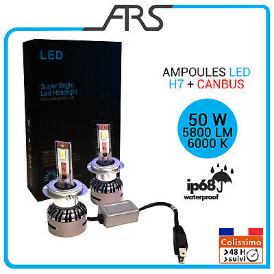 2x Ampoules LED   H7 Canbus phare feux route 50W 5800LM 6000K