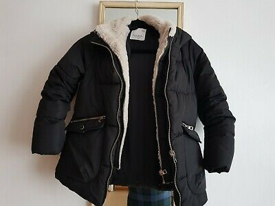 zara girls down jacket size 10 years black