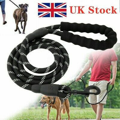 Reflective Rope UK 5ft Dog Lead with Foam Padded Handle Leash 150cm Extra Strong