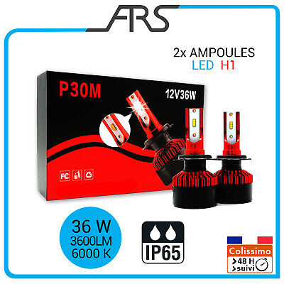2x Ampoules LED   H1  phare feux route 36W 3800LM 6000K