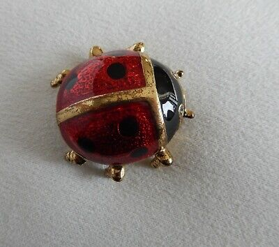 Broche Coccinelle    Couleur Or Tbe