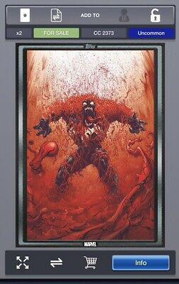 Topps Marvel Collect Card Trader NCBD ABSOLUTE CARNAGE #4 SILVER