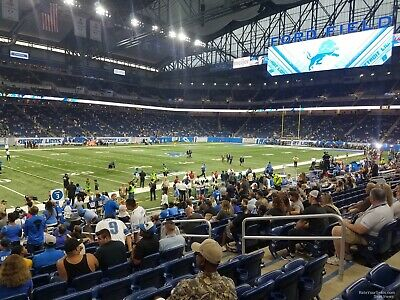 Detroit Lions vs Tampa Bay Buccaneers 12/15/2019 2 Tickets. LOWER BOWL