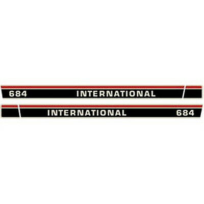 684 International Harvester Farmall Tractor Hood Decal Kit Quality Vinyl