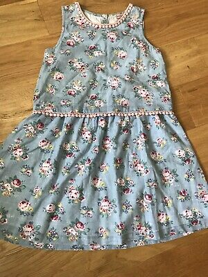 Cath Kidston Kids. Girl's Age 7-8 Years Blue Floral Cotton Dress
