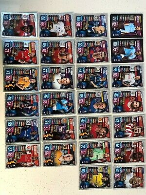 Match Attax 2019/20 card bundle - mix of MVP, Man of the Match and Super Squad.