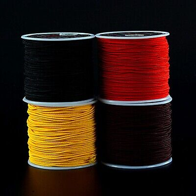 Craft Elastic Stretch Round Beading Cord Braided String Rattail Rope 0.8mm-1.5mm