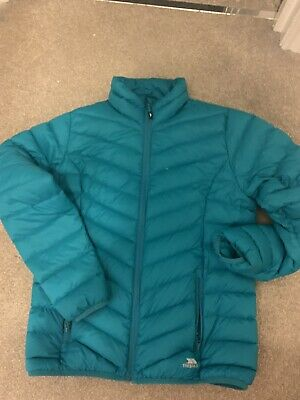Tresspass -Ladies-Down/Water Resistant Quilted Turquoise Jacket 14 Very Warm.