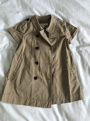 Girls Burberry Nova Check Trench Coat Dress Age 18 Months Excellent Condition