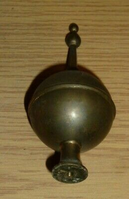 Brass finial from antique longcase clock c1800